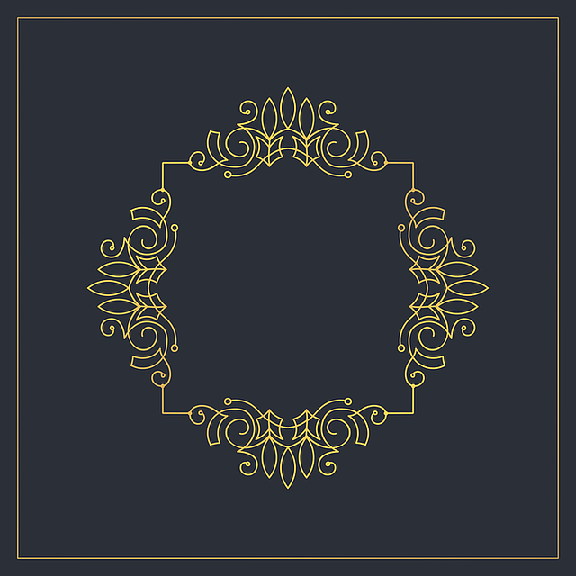Monogram, Openwork Frame, Vector, Vintage, Design