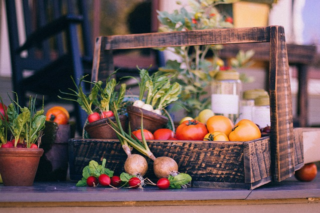 Vegetable Basket, Fruit Basket, Harvest, Thanksgiving