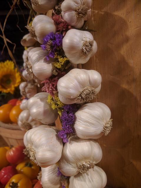 Garlic, Vegetable, Group, Food, Fresh, Plant, Spice
