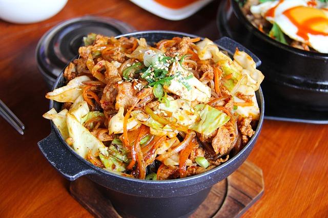 Vegetable, Pork, Meat, Fried, Korean Food, Dinner