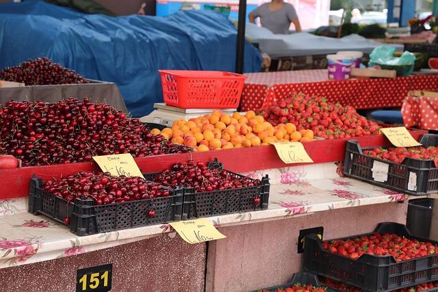 Vegetable Market, Fruit Market, Market, Fruit, Food