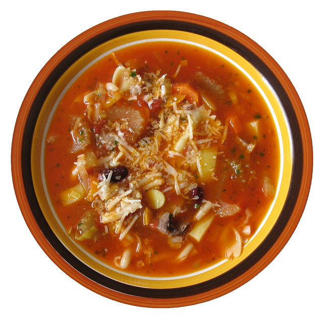 Minestrone, Soup, Vegetable Soup, Italian, Food, Plate