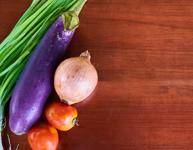 Tomato, Eggplant, Onion, Green, Vegetable, Healthy