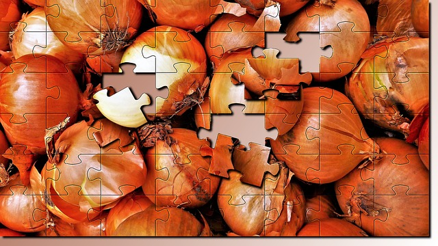 Puzzle, Onion, Market, Vegetables, Harvest, Color, Food