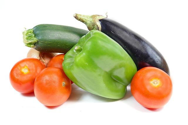 Vegetables, Tomatoes, Eggplant