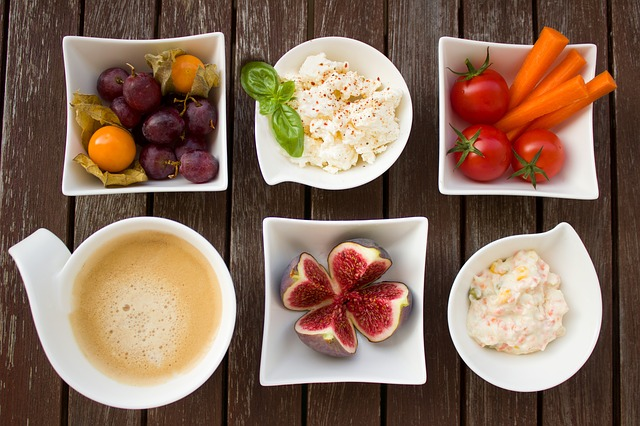 Breakfast, Vegetables, Coffee, Fig, Fruit, Cheese