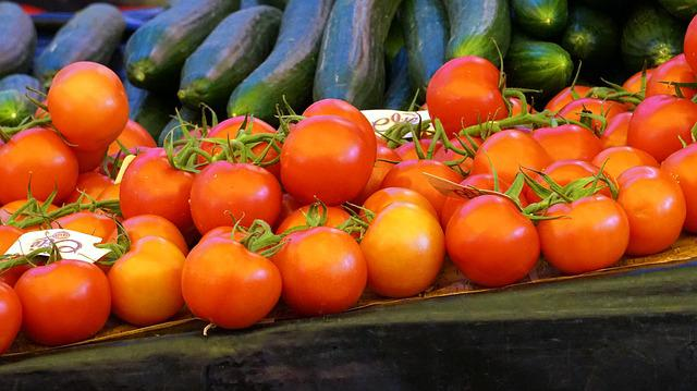 Tomatoes, Market, Vegetables, Marketplace