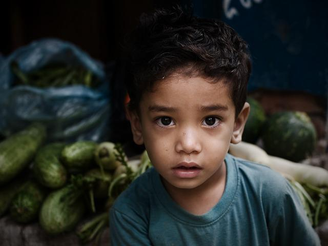 Child, Vegetables, Nepal