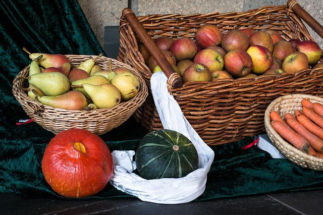 Fruit, Vegetables, Thanksgiving, Harvest, Pumpkin