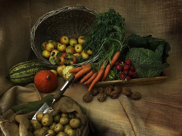 Harvest, Thanksgiving, Pumpkin, Vegetables, Decoration