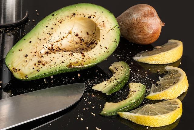 Avocado, Lemon, Salad, Fresh, Food, Vegetarian, Diet