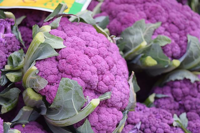 Vegetables, Veggies, Cauliflower, Violet, Purple