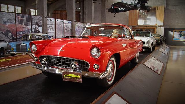Red Thunderbird Car Cake