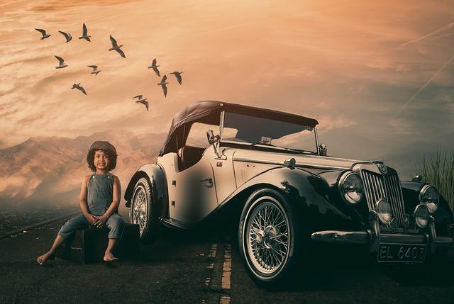 Vehicle, Car, Transportation System, Sunset, Outdoors