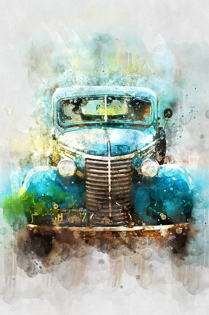 Car, Old Car, Watercolor, Transportation, Vehicle