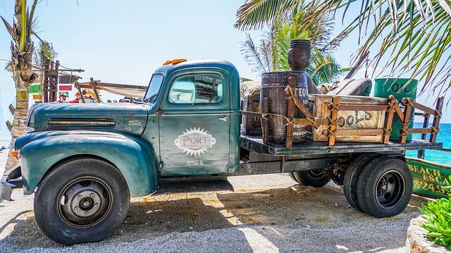 Truck, Antique, Mexico, Cozumel, Vintage, Old, Vehicle
