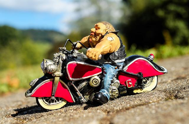 Biker, Fig, Motorcycle, Exit, Downhill, Vehicle
