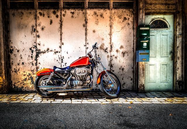 Parked, Motorcycle, Motorbike, Transport, Vehicle