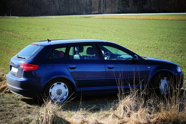 Auto, Audi, A3, Blue, Nature, Vehicle, Transport System