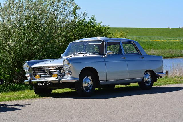 Peugeot 404, Oldtimer, Peugeot, Vehicle, Pkw, Old