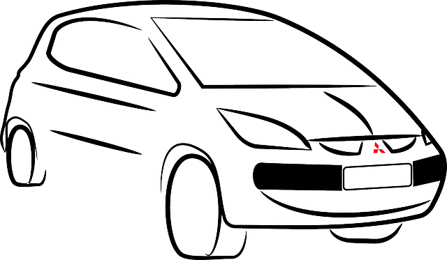 Car, Colt, Mitsubishi, Silhouette, Vehicle, Automobile