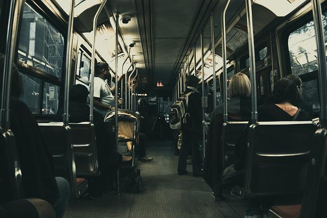Bus, Passengers, People, Seats, Vehicle, Subway, Metro