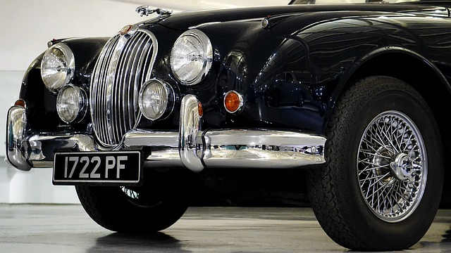 Jaguar Car, Classic, Car, Vehicle, Transport, Chrome
