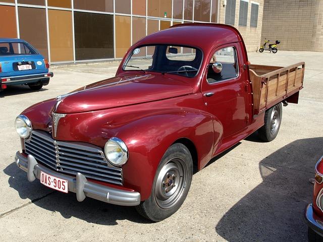 Peugeot, Pickup, Truck, Vehicle, Transportation, Red
