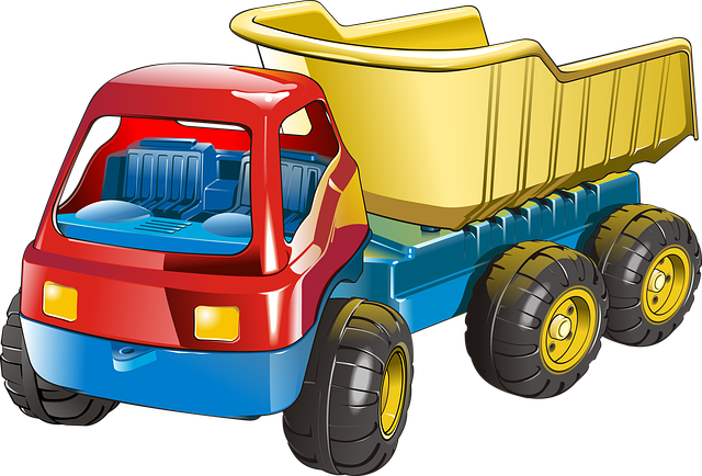 Truck, Vehicle, Transport, Toy, Drawing, Graphics