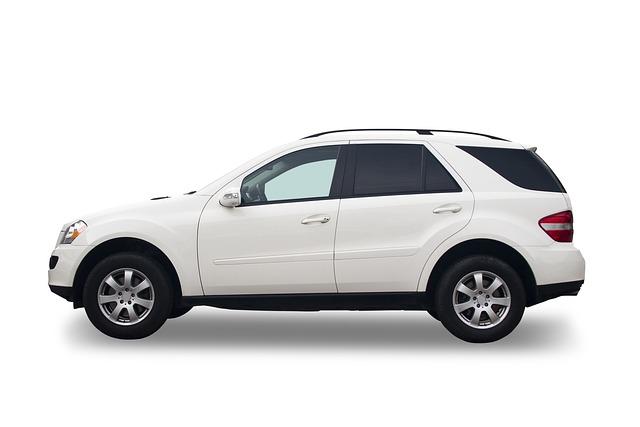 Car, Suv, White Background, Mercedes, Vehicle, Isolated
