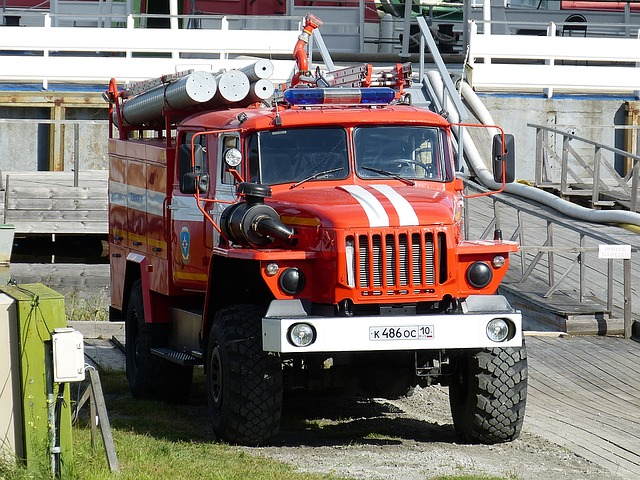 Fire, Fire Truck, Auto, Red, Vehicles, Civil Protection