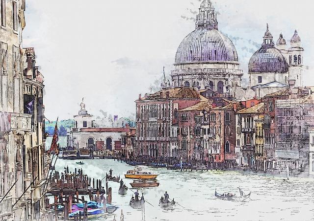 Venice, Italy, Canal, Landmark, City, Building