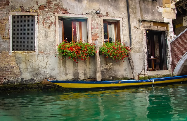 Venice, Boat, Colors, House, Home, Door, Italy