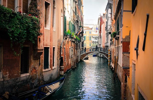 Venice, Italy, Gondolas, Channel