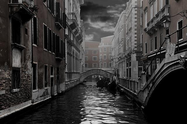 Venice, Channel, Gondola, Home, Facade, Water