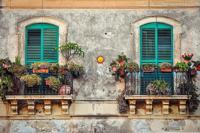 Balcony, Cuba, House, Color, Fiesta, Venice, Italy