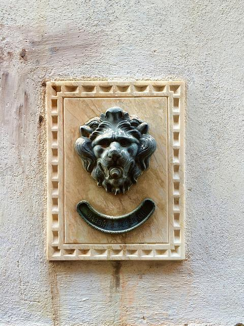 Doorbell, Venice, Old, Lion, Vintage