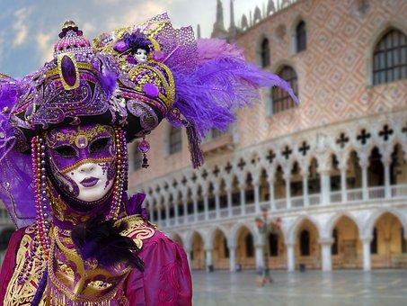 Masks, Mask Of Venice, Carnival Venice, Venice