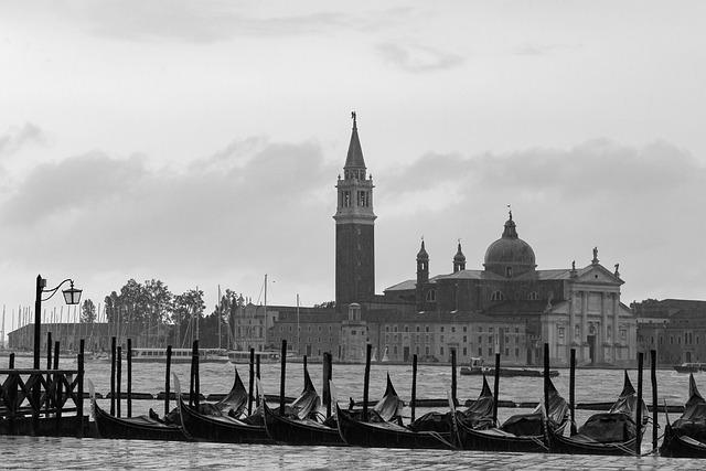 Venice, Italy, Pods, Overcast, Rainy Landscape