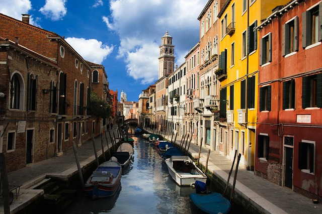 Architecture, Travel, City, Venice, Channel, Water
