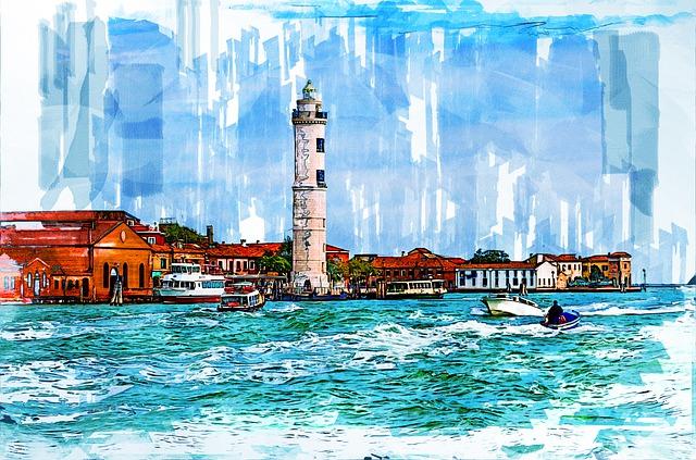 Murano Lighthouse, Venice, Venetian Lagoon, Veneto