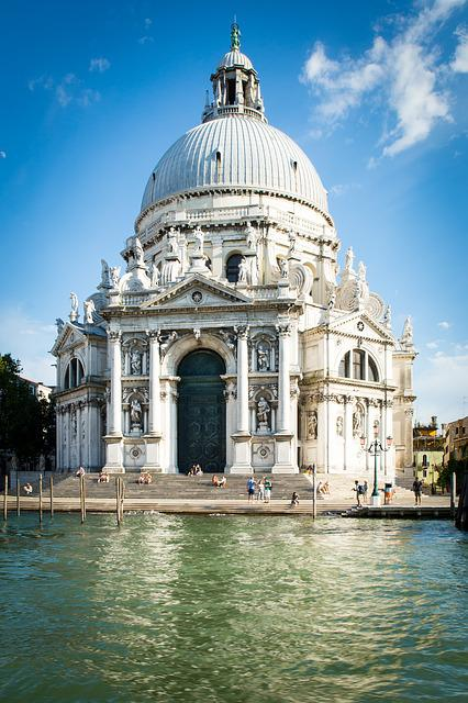 Venice, Church, Gondola, Italy, Venezia, Architecture