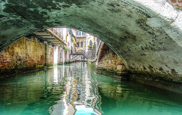 Tunnel, Venice, Venetian, Bridge, Canal, Water, Italy