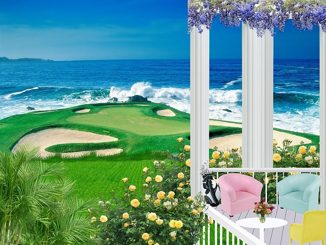 Balcony, Armchairs, Flowers, Veranda, Seaside, Ocean