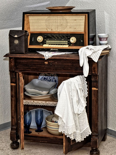 Radio, Vertiko, Old, Historically, Nauen Germany