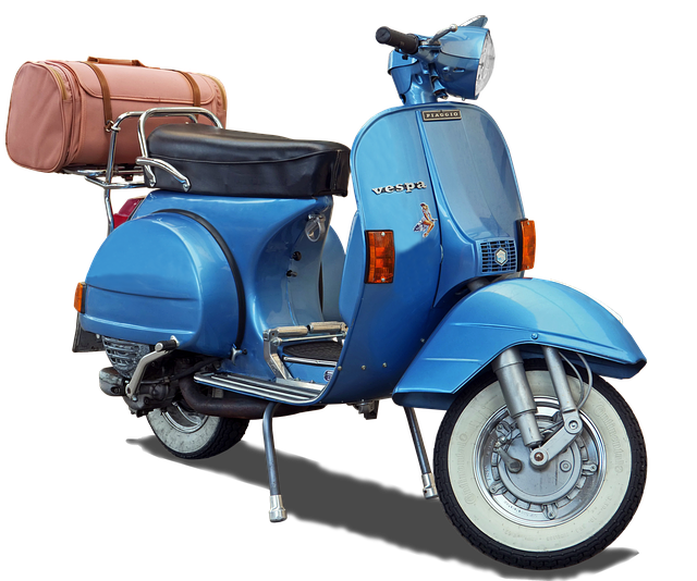 Motor Scooter, Vespa, Isolated, Jewel, Historically