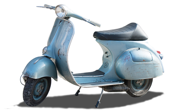 Isolated, Vintage, Vespa, Motor Scooter, Retro, Italy