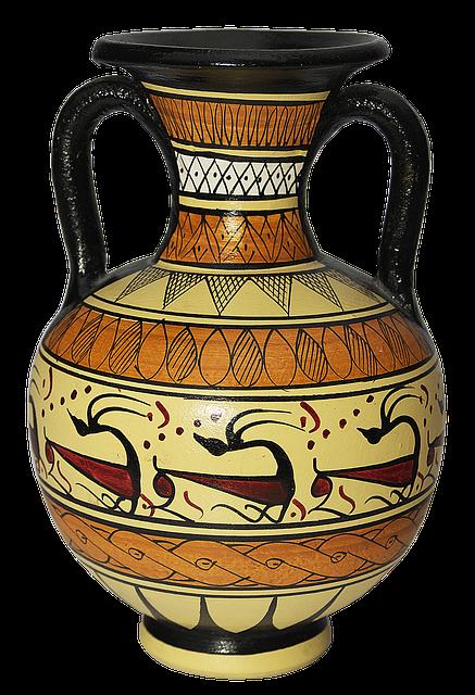 Vase, Floor Vase, Amphora, Terracotta, Ceramic, Vessel