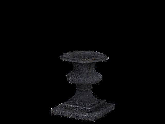 Vase, Vessel, Metal Vase, Decoration, Garden
