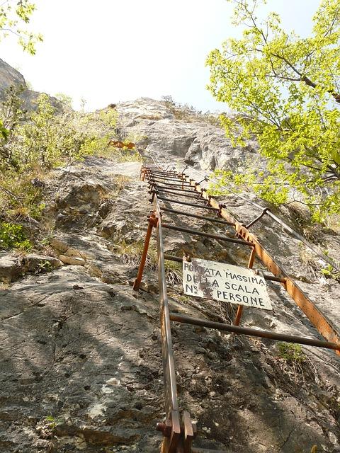 Via Dell'amicizia, Climbing Platform System, Leiterweg
